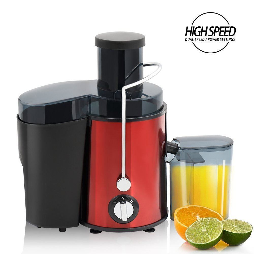 Slow juicer Extractor, BuySevenSide juicer with Dual speed settings ensures the extraction of maximum fresh juice, High speed for hard fruits and vegetables