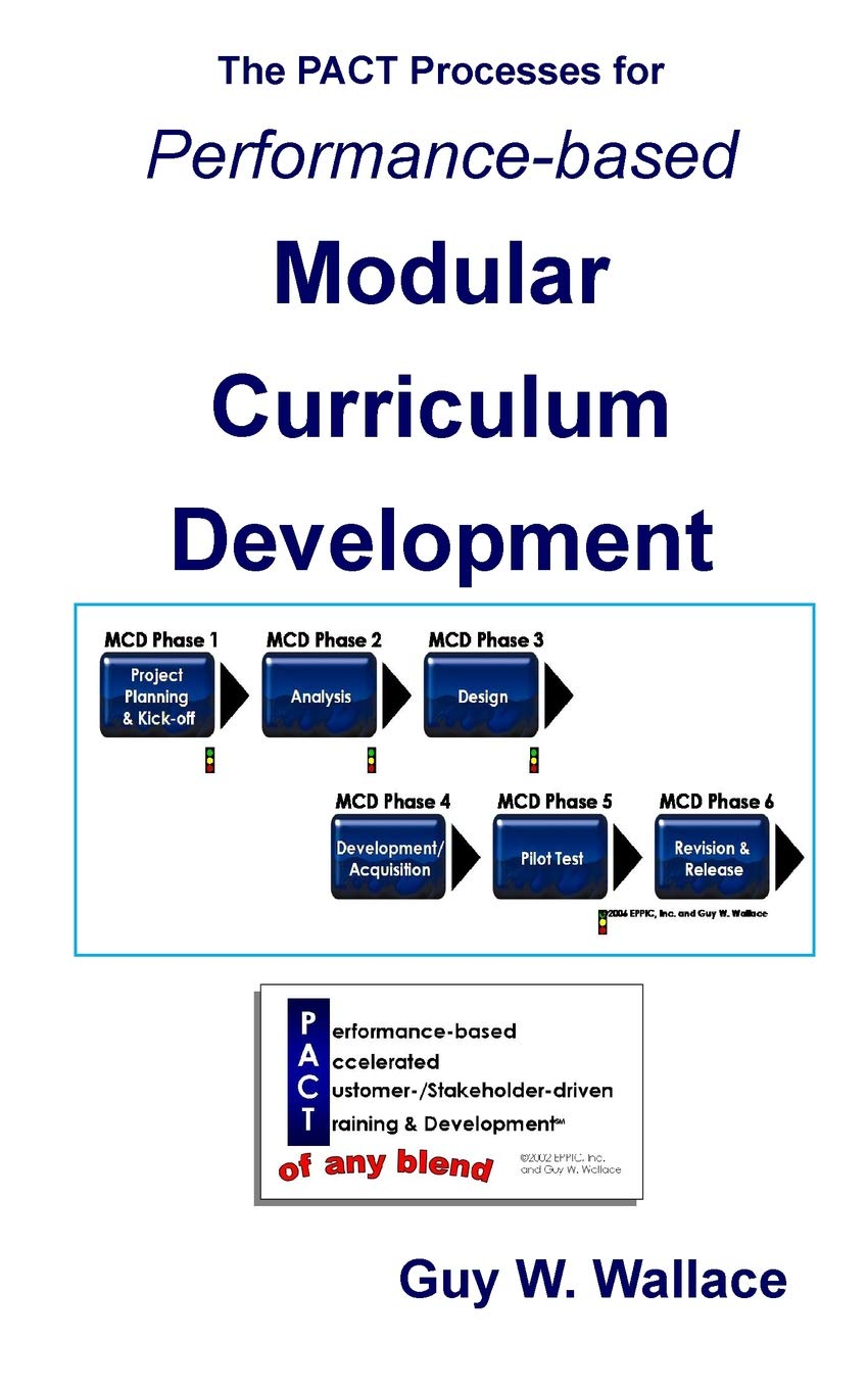 Performance Based Modular Curriculum Development A Business Rational And Rapid Approach To Performance Based Instructional Design Wallace Guy W 9781463574949 Amazon Com Books