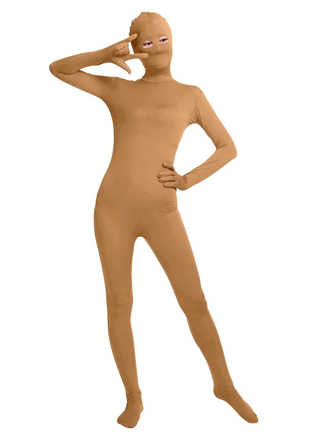 Shinningstar Unisex Women' s Men's Cos Bodysuit Eyes Open Spandex Zentai Full Body Unitard