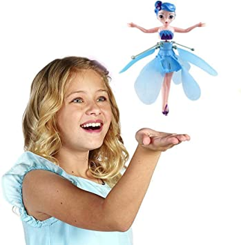 LAMEIDA Kids Toy Flying Princess Doll Drone Doll Infrared Induction Control USB Charging Fairy Toys Gift for Girls Children