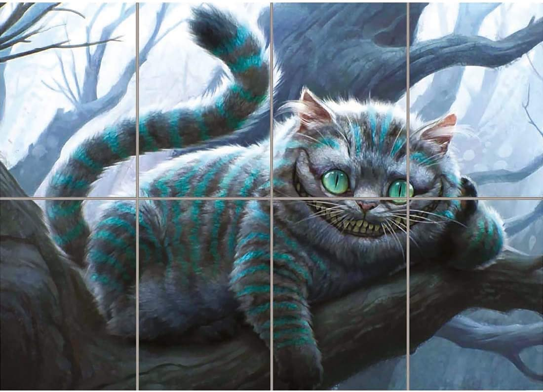 Lots of Sizes Alice In Wonderland Cheshire Cat Framed CANVAS ART PRINT