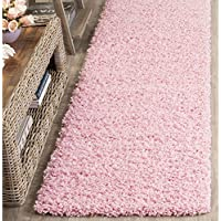 Safavieh Athens Shag Collection SGAS119P Pink Runner (23 x 8)