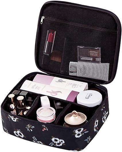 JooNeng - Neceser de maquillaje, bolsa para cosméticos, neceser de viaje, con compartimentos para maquillaje, estuche de maquillaje portátil: Amazon.es: Belleza