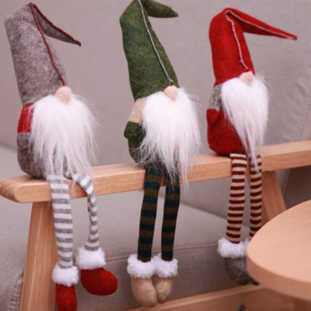 Shenphone Handmade Longues Jambes Santa GNOME De No/ël Cadeau De P/âques D/écoration Tableau D/écor