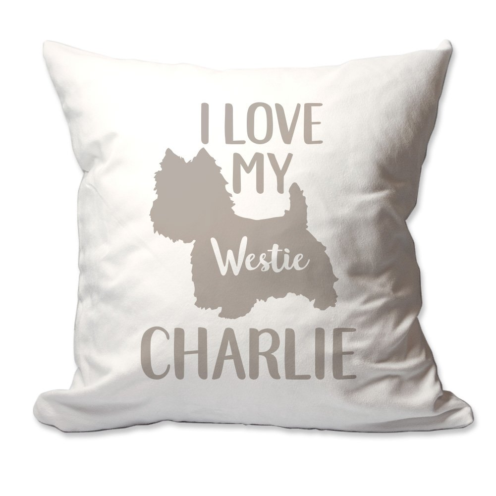 Personalized I Love My Westie Throw枕   B076B5HQYC