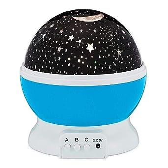 Proyector de estrellas lámpara de luna luz de noche estrellada luz ...