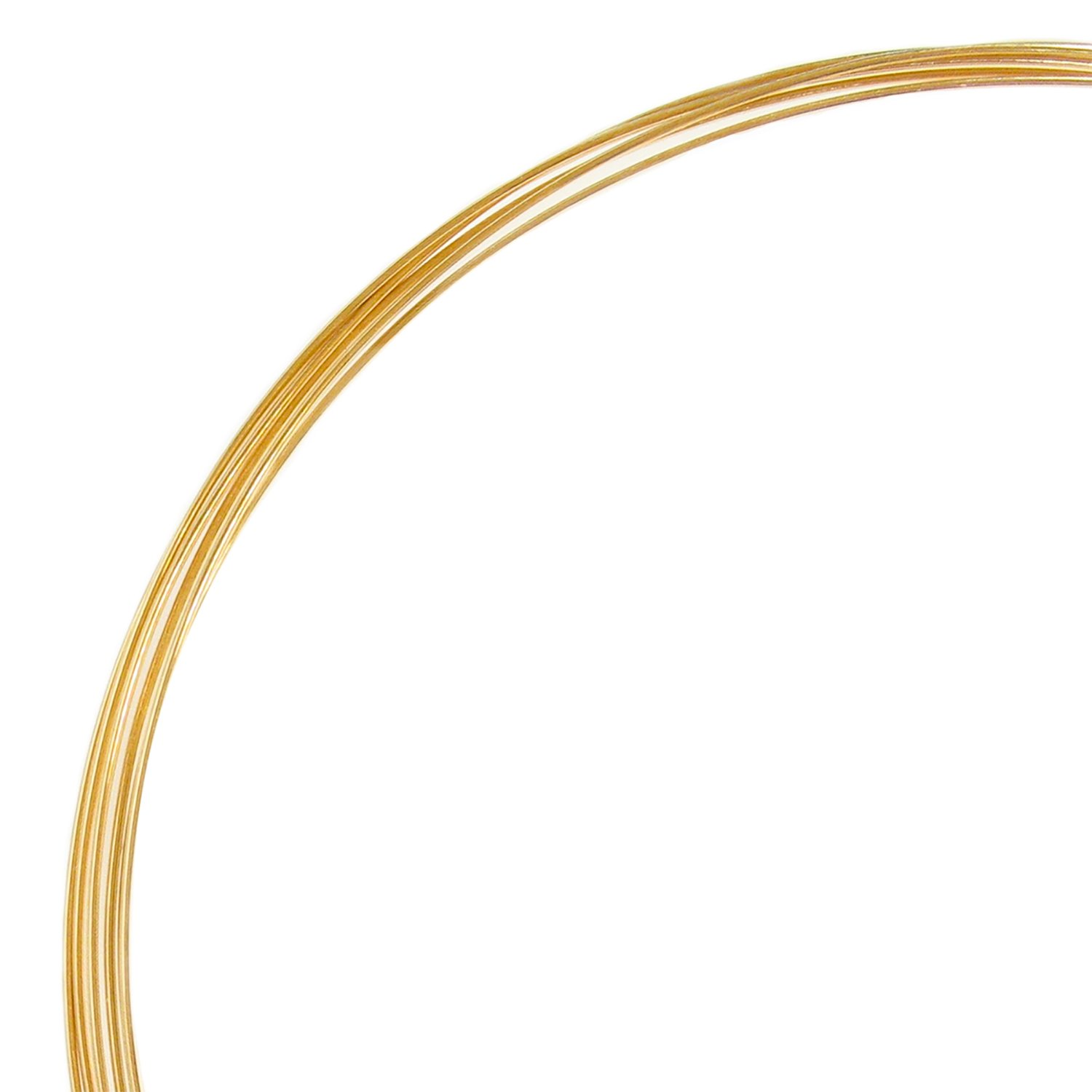5ft Fine 14k Gold Filled Round Wire 26 Gauge 26ga (0.4mm) Half Hard Dreambell GFW101-04
