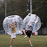 AmazingsportsTM 2 Balls Bubble Soccer Balls Suit Cheap dia 5' 1.5m For Adults Transparent PVC (1.2m 1.7m available)
