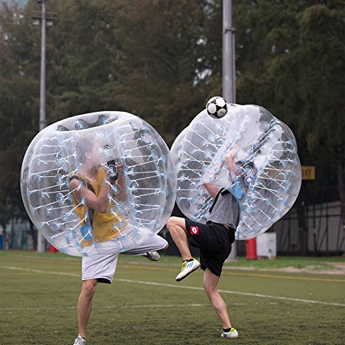 AmazingsportsTM 2 Balls Bubble Soccer Balls Suit Cheap dia 5' 1.5m For Adults Transparent PVC (1.2m 1.7m available) by AmazingsportsTM