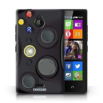 Carcasa/Funda STUFF4 dura para el Nokia X2 Dual Sim / serie: Consola de juegos - Xbox 360 negro