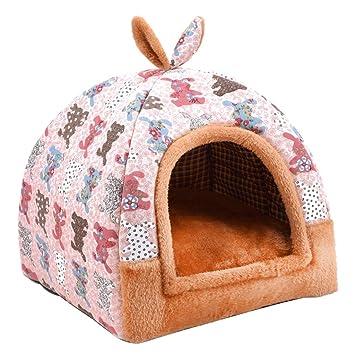 KYCD Casa Multifuncional de la Cama del Gato del Perro del Animal doméstico, Perrera Caliente Perrito ...