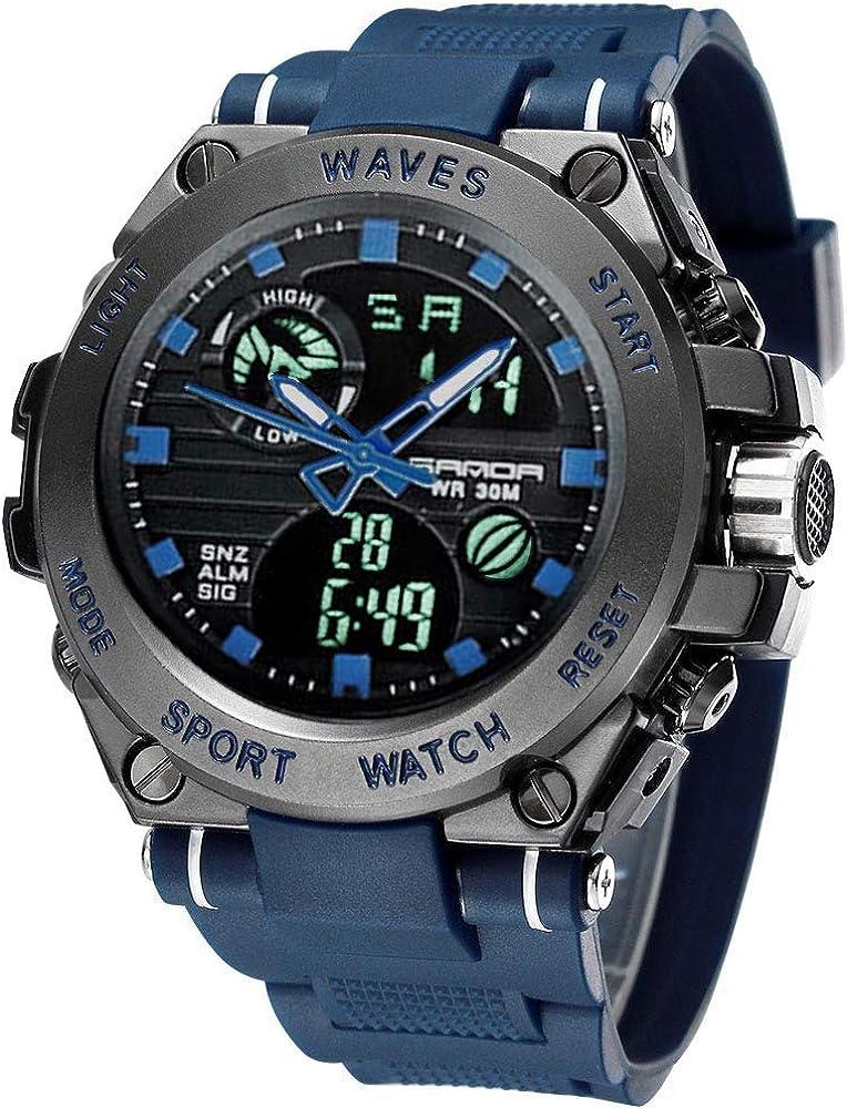 Men s Sports Watch Men s Digital Watch Wrist Watch Electronic Quartz Movement Military Watches LED Backlight Watch for Men