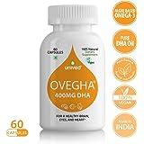 Unived Ovegha Dha Max, Vegan Algae Omega-3 Dha, 400Mg Dha, Brain Eyes And Hearth Health, Unflavoured, 60 Vegan Capsules