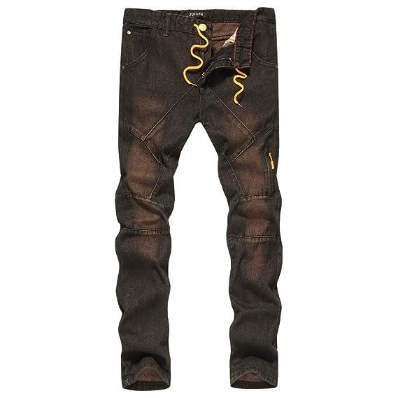 Cebbay Pantalones Vaqueros de los Hombres Pantalones de ...