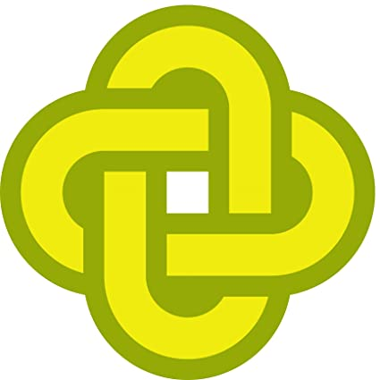 Amazon com: Simple Yellow Green Celtic Knot Cartoon Icon