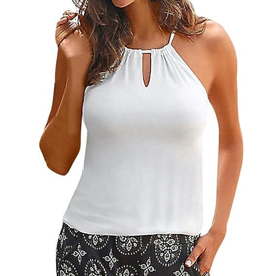 ❤ Chaleco sin Tirantes del Verano de Las Mujeres Camisa sin Mangas Superior de la Blusa Camisetas sin Mangas Casuales: Amazon.es: Ropa y accesorios