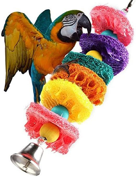 WESEEDOO - Juguete para Masticar pájaros para Jaula de guacamayos ...