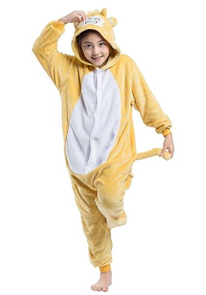 Wamvp Kigurumi Niños Pijama Ropa De Dormir Animal Disfraz Halloween Niñas Chico -Mono