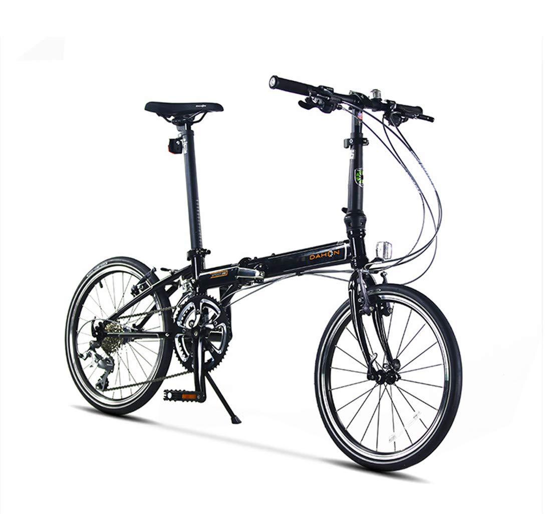 男女兼用の大人のための都市バイク20インチ18速の通勤用自転車の折目のアルミ合金ブレーキ  black B07P915WFL