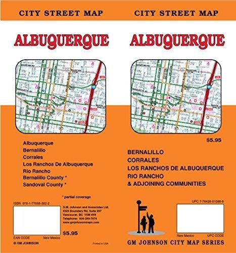 Albuquerque, NM Street Map by GM Johnson - Malls Shopping Albuquerque