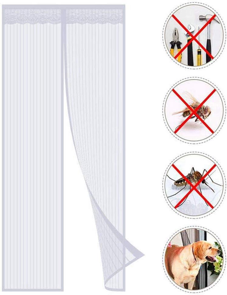 ZXQY Cortina Mosquitera Magnética para Puertas, Anti Insectos Moscas y Mosquitos, con Imanes Cierre Automático, para Puertas Correderas/Balcones/Terraza