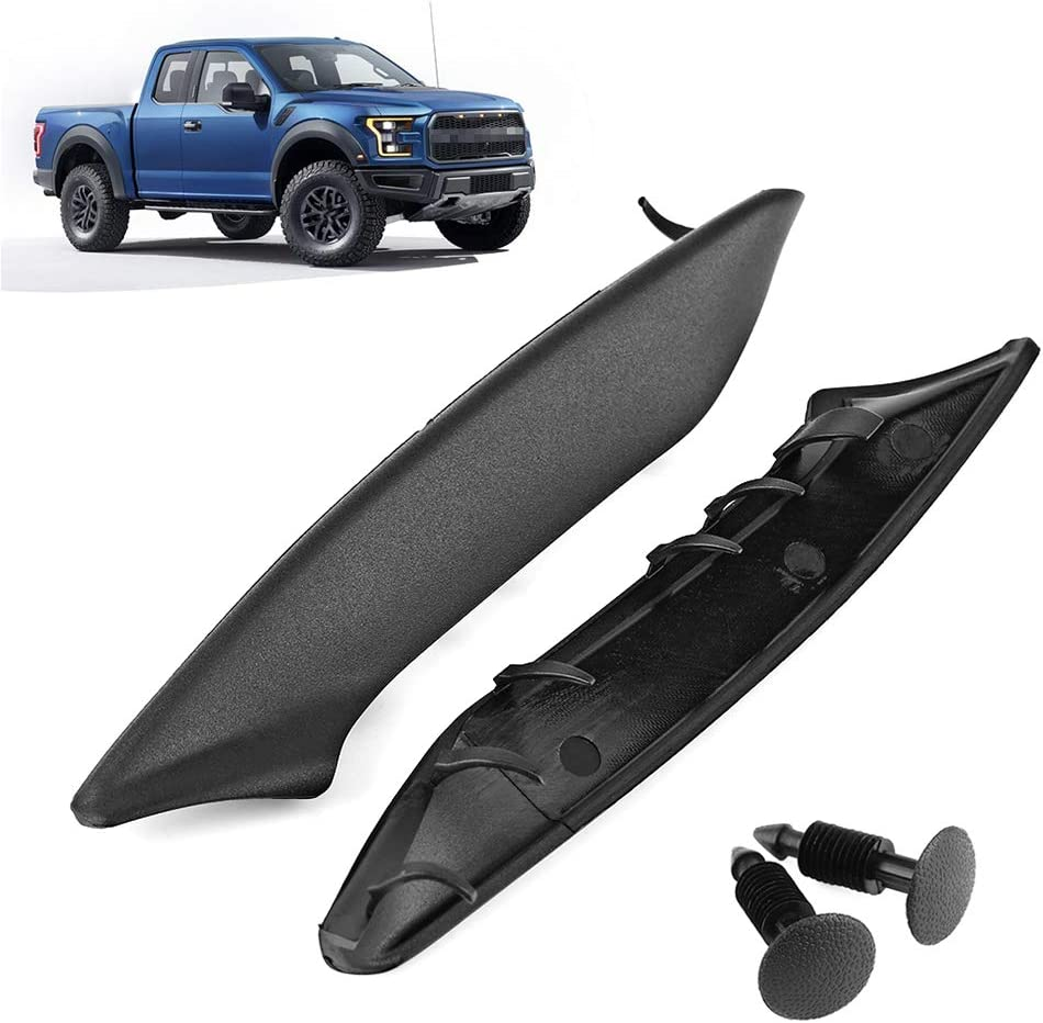 Plastic End Windshield Wiper Cowl Cover For F150 2004-2008 LT 2006-2008 2pcs Windshield Wiper Cowls with 2 Retainers