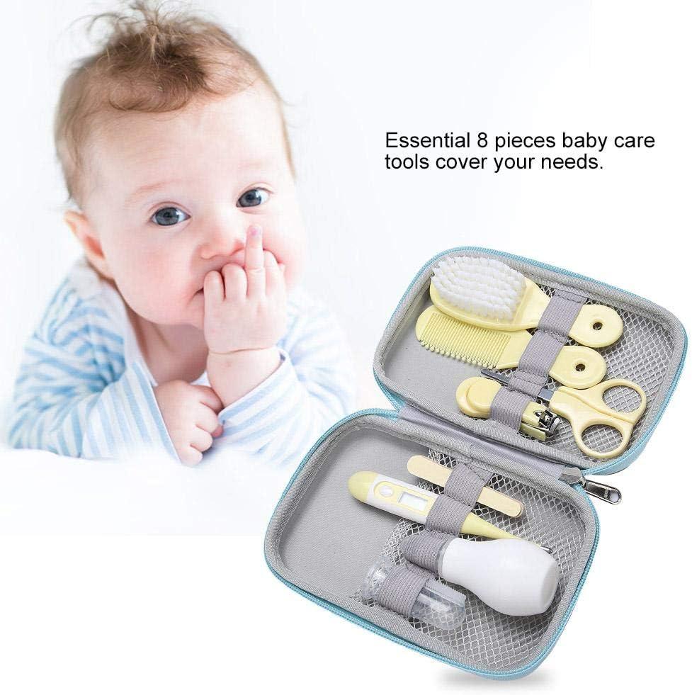 8pcs esencial conveniente diario tijeras cortapelos tijeras cepillo de pelo cuidado de manicura kit para beb/és Yellow