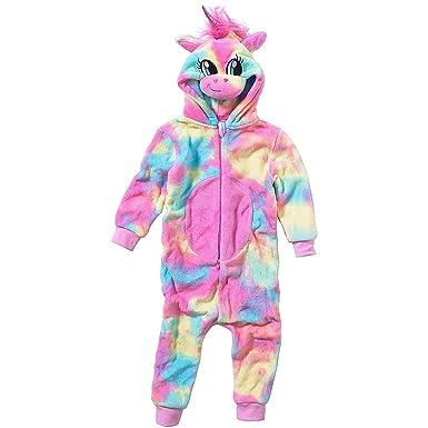 2e4c53ffdea2f Pyjama Combinaison Fille Animal Crazy Polaire Douillet Ultradoux Licorne  Arc-en-Ciel - Arc