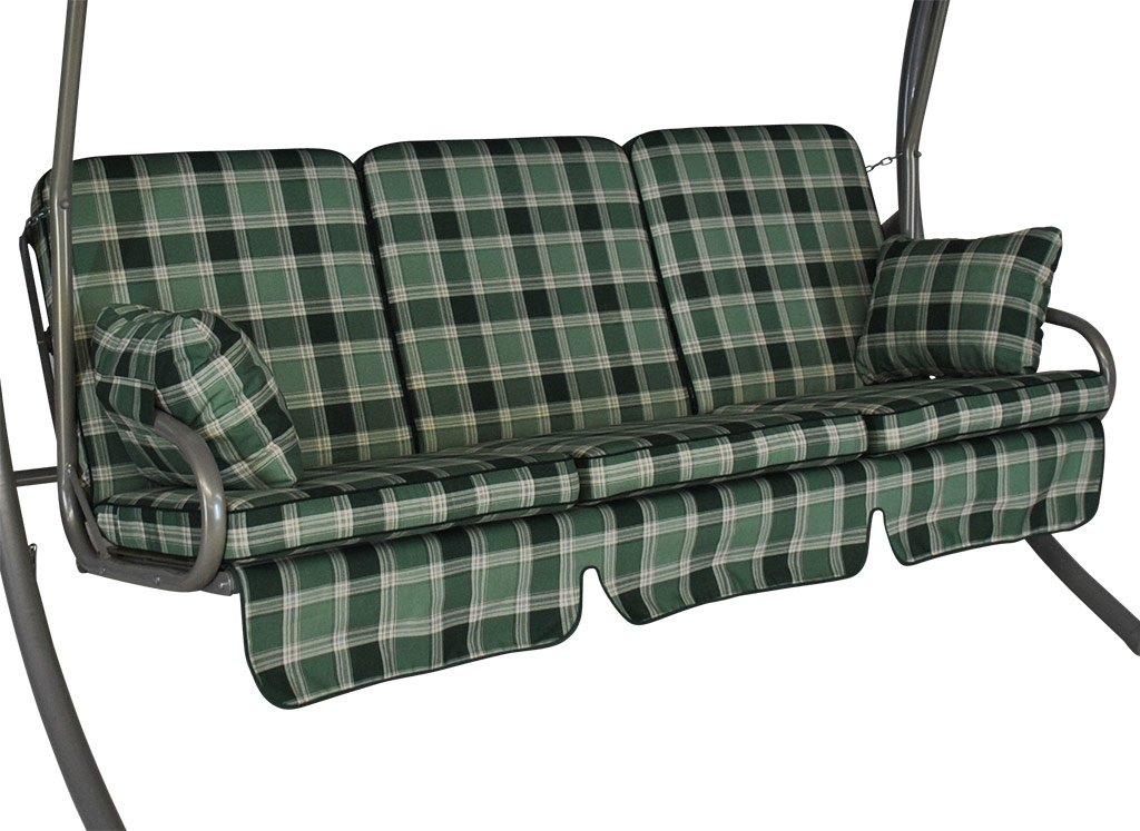 Cuscini per dondolo Comfort 3 posti Rio verde