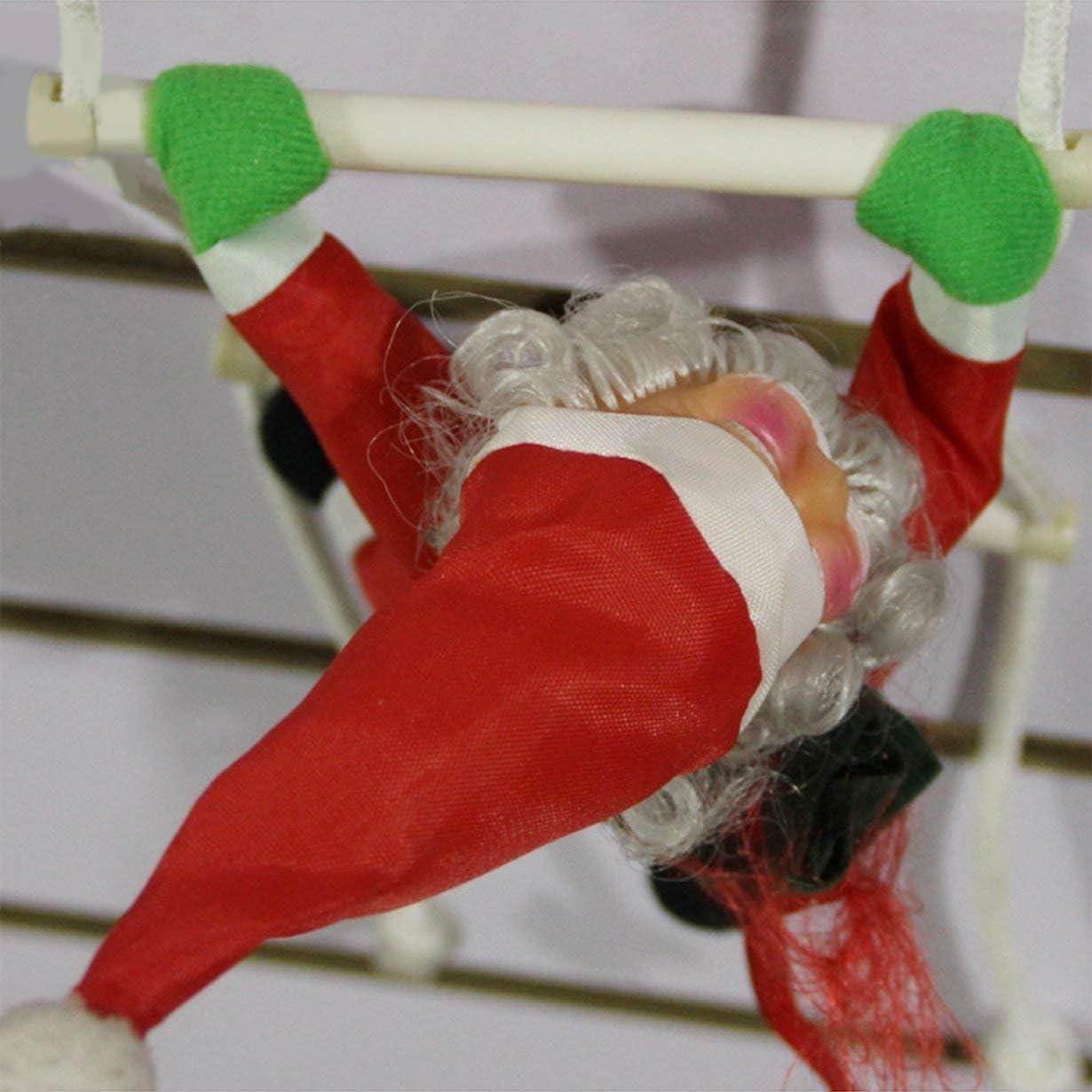 Unitedheart Decoración navideña, Santa Claus Escaleras para trepar Decoración de árboles de Navidad Adorno de año Nuevo Papá Noel Donaciones para Regalos Colgantes de Gran tamaño con Escalera: Amazon.es: Hogar