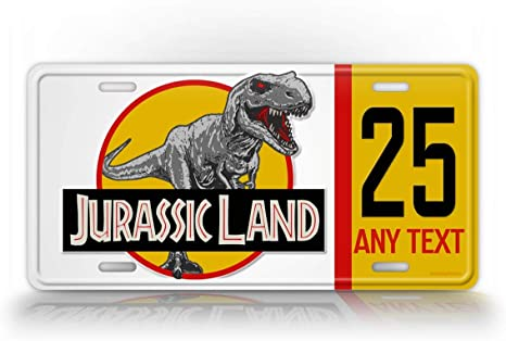 Panda Jurassic World Custom Metal License Plate for Car Tag