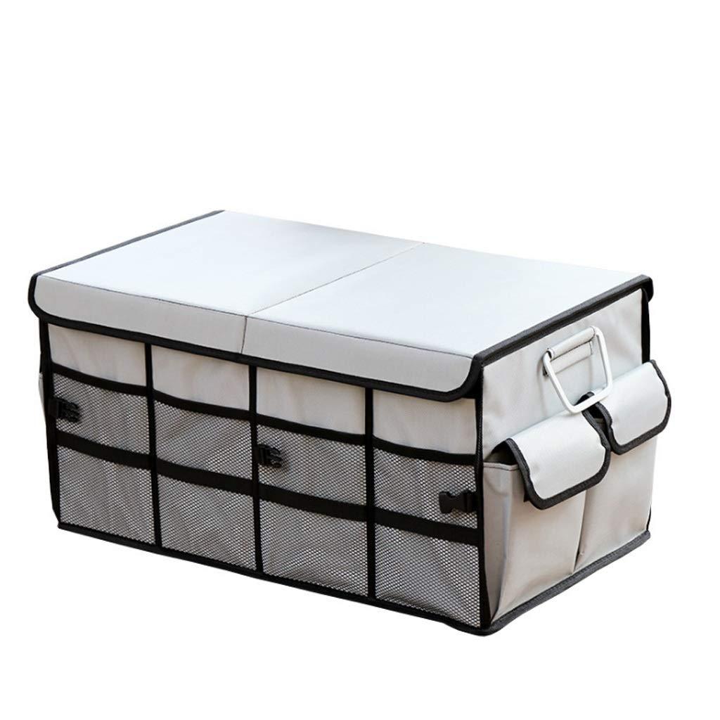 Car Storage Box Car Storage Box Trunk Storage Box Multi-Function Shape Folding Car Storage Box Glove Box (Color : Gray, Size : L) by Cxp Boutiques-Car Boot Bags (Image #1)