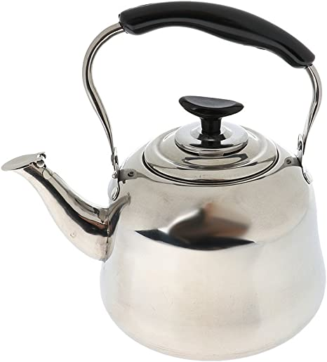 3L Stainless Steel Whistling Kettle Home Camping Caravan Lightweight New UK
