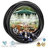 HomeNote Outdoor Misting Cooling System 26.2FT (8M) Misting Line + 9 Brass Mist Nozzles + a Brass Adapter(3/4) For Patio Garden Greenhouse Trampoline for Waterpark