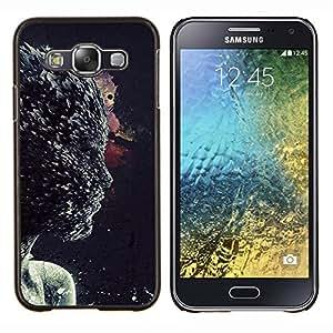 LECELL--Funda protectora / Cubierta / Piel For Samsung Galaxy E5 E500 -- Acción personaje de la película de la cara de la mujer abstracta --