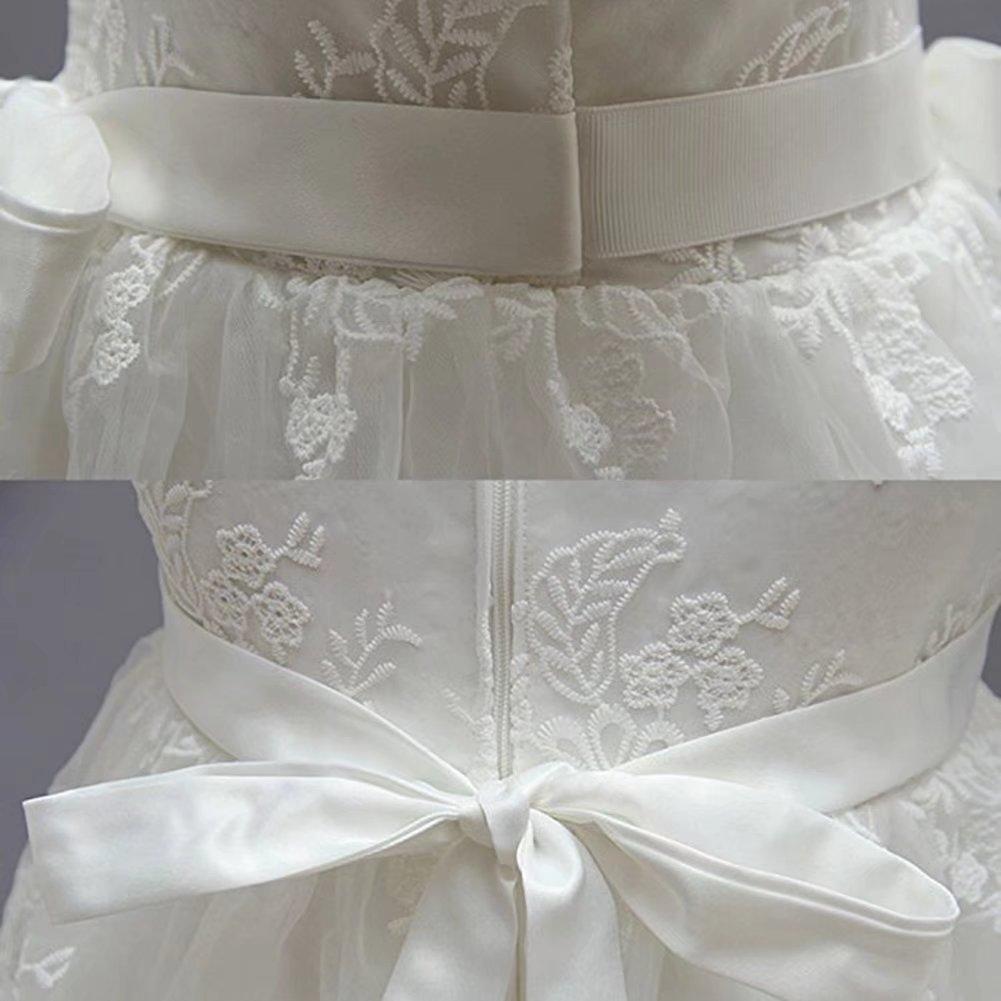 ZAH Baby 2PCS Baby Girls Dresses Christening Baptism Gowns Dress
