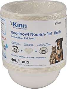 Kinn Kleanbowl Nourish Pet Refill Food & Water Bowls for Dogs & Cats