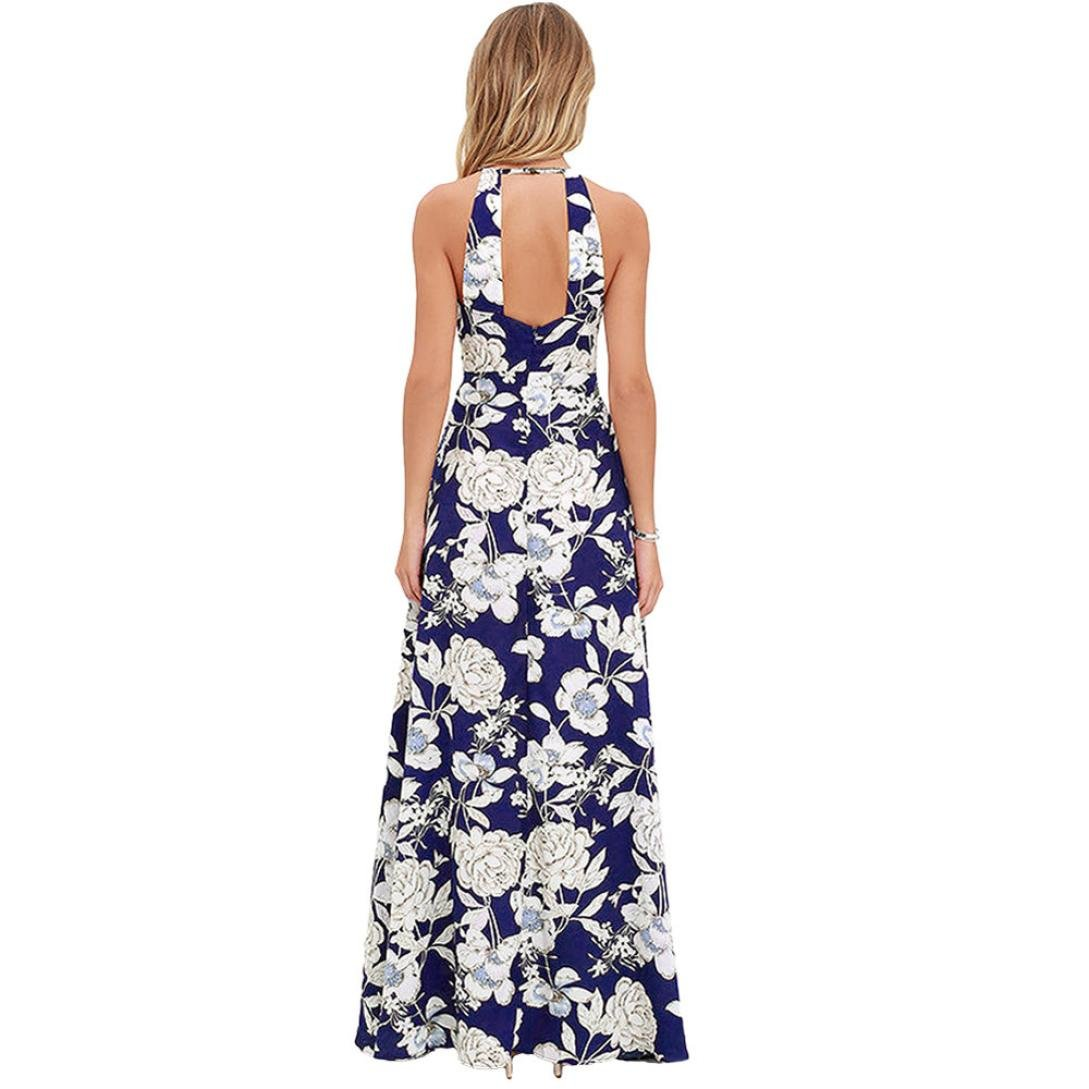 Start Womens Sexy Long Maxi Dress Halter One-piece Dresses Split Party Sundress at Amazon Womens Clothing store: