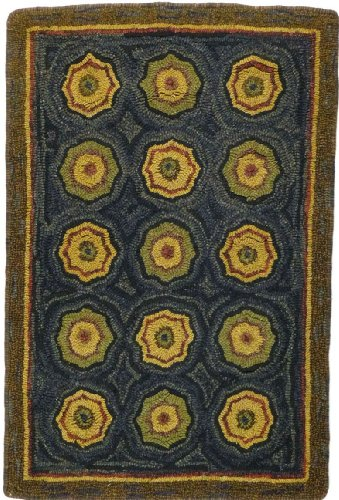 Homespice Decor Braided Rectangle Area Rug 2'x3' Multi Color Lilly Pad Collection
