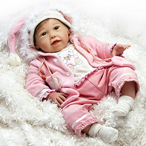 Paradise Galleries Reborn Baby Girl Doll That Looks Real Cuddle Bear Bella, 21 inch Soft GentleTouch Vinyl, Safety Tested for Age 3+, 6-Piece Gift Set from Paradise Galleries