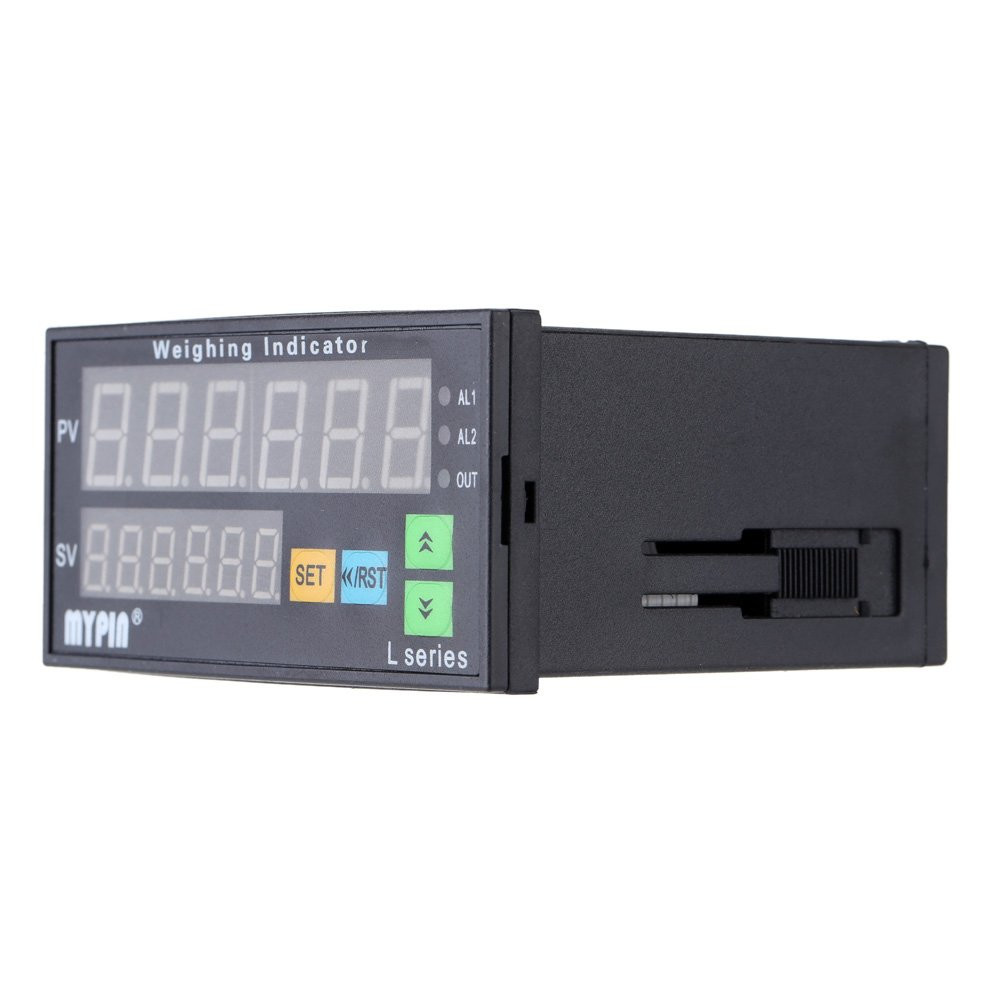 Baugger Digital Weighing Meter, Load-cells Indicator Weight Controller 1-4 Load Cell Signals Input 2 Relay Output 4 Digits LED Display