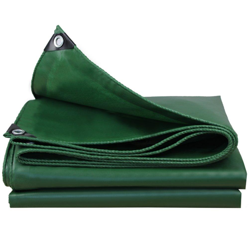 QX pengbu IAIZI Schwerlastplane-gewebtes PVC mit hoher Dichte - 550g / m² / Grün - 100% wasserdicht und UV-geschützt