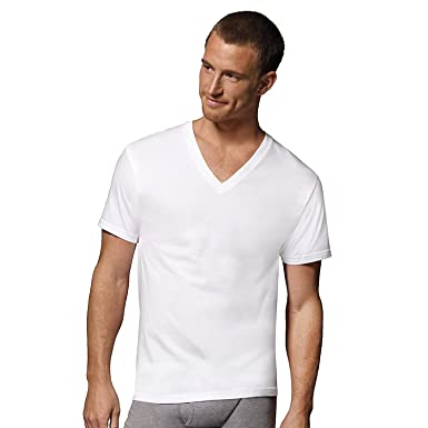 645fd78ed259 Image Unavailable. Image not available for. Color: Hanes Men's Classics V-Neck  T-Shirt Value Pack ...