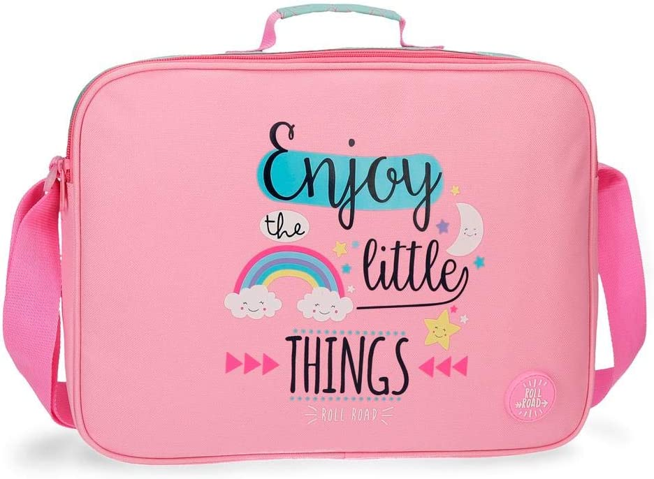 ROLL ROAD Little Things Mochila escolar, 38 cm, 6.38 litros, color Rosa