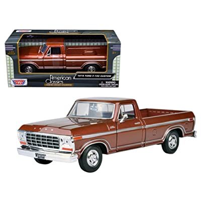 Motormax 1979 Ford F-150 Pickup Brown 1:24 Scale Diecast Truck: Toys & Games
