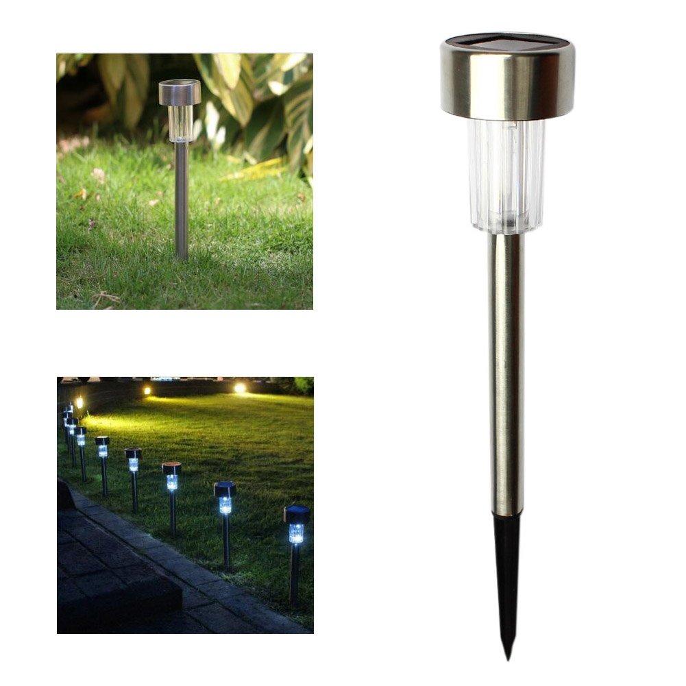 LEDGLE Lot de 12 Lampe Solaire Jardin /à Piquet IP44 Etanche sans Fil Eclairage Ext/érieur pour Patio,Chemin,All/ée