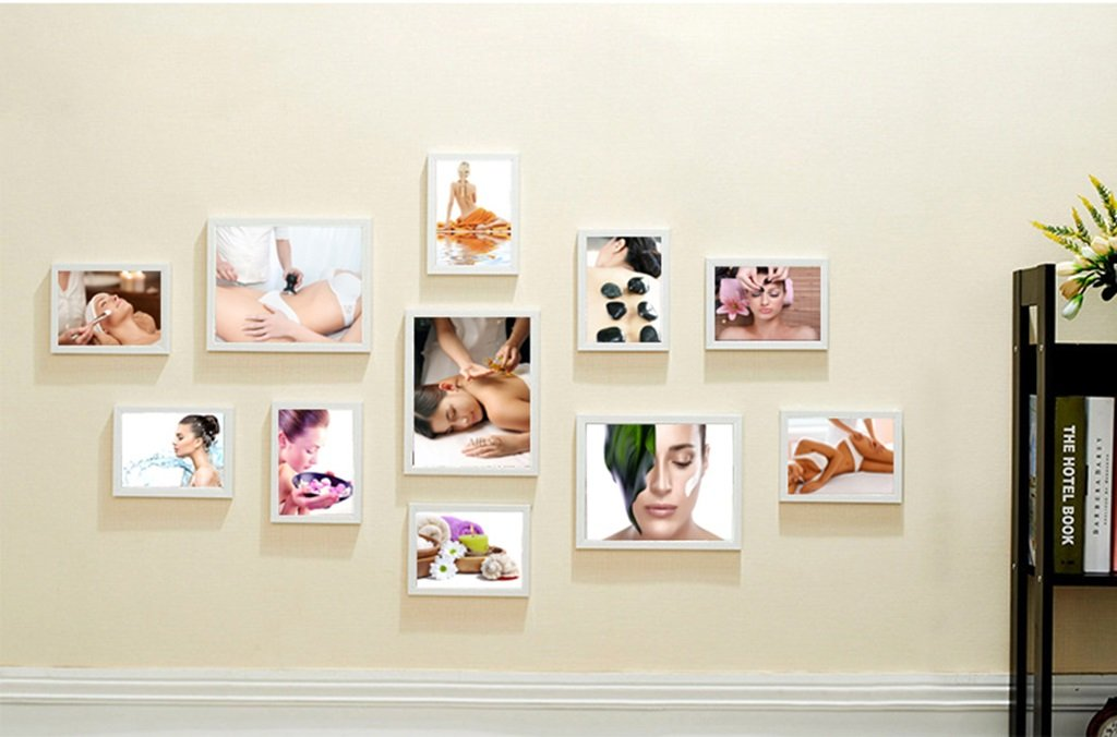 ZGP Home@Wall photo frame Beauty Salon Decoration Painting Body Paintings Health Club SPA Club Chinese Medicine Scraping Massage Mural Photo Frame Photo Wall (Color : B)