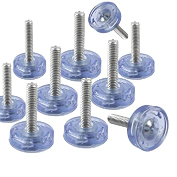 20pcs 6mm Threaded M8 Adjustable Levelling Feet for Furniture Cabinet
