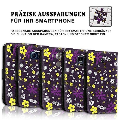 Wallet Book Style Flip Handy Tasche Case Schutz Hülle Schale Motiv Etui für Apple iPhone 5 / 5S - Design Flip MV185