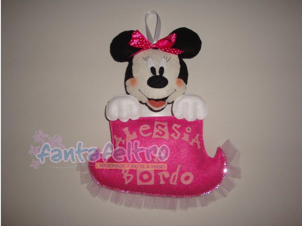 Bimba a bordo con Minnie - personalizzabile